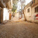 استمرار اعمال مشروع تأهيل طرق داخلية في مدينة قلقيلية