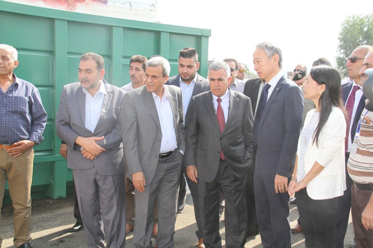 الاحتفال بافتتاح محطة ترحيل النفايات الصلبة