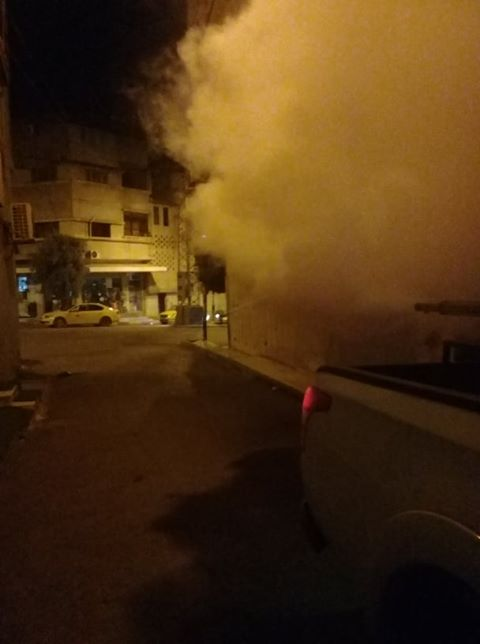 بلدية قلقيلية تواصل اعمال الرش لمكافحة البعوض في المدينة