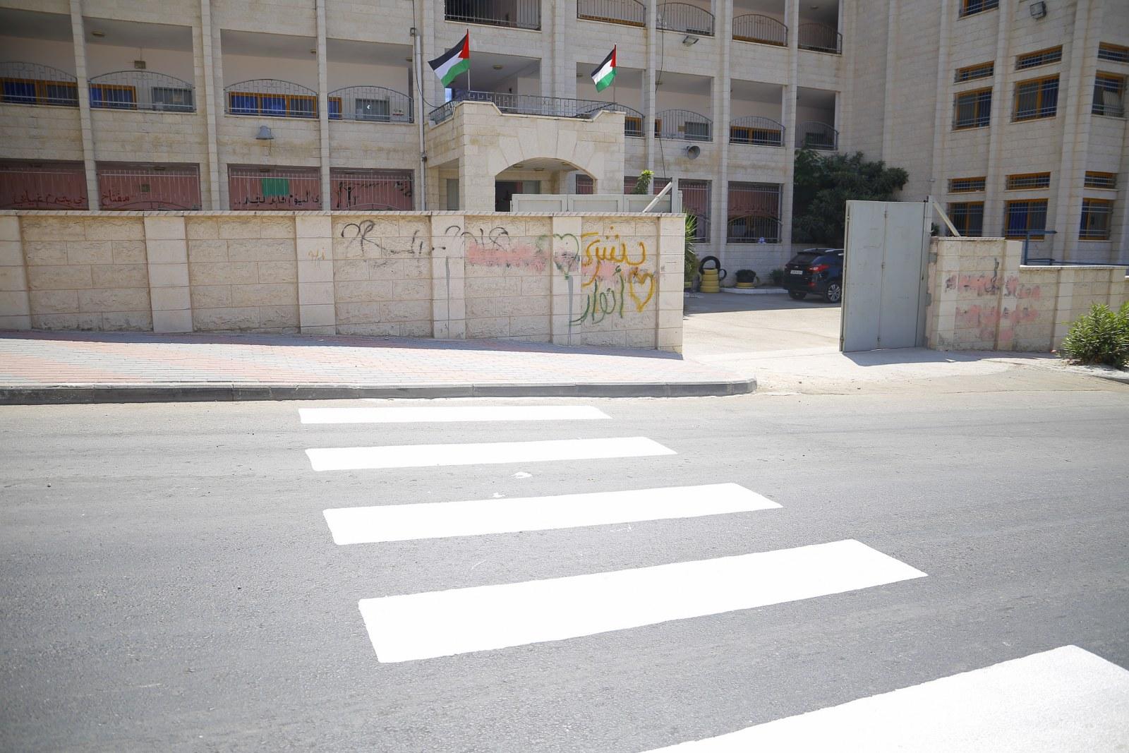 أعمال تخطيط شوارع وممرات مشاه