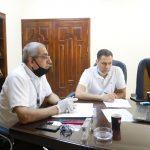 البلدية تعقد اجتماعا لمناقشة أوجه التعاون بين الشركاء الفرنسيين.
