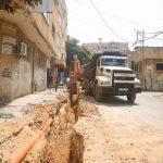 الاعمال مستمرة في مشروع تأهيل شبكة الصرف الصحي في مدينة قلقيلية