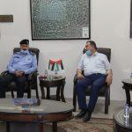 رئيس بلدية قلقيلية يستقبل مدير شرطة محافظة قلقيلية