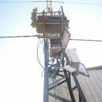استبدال محول كهرباء – بالقرب من نقطة الترحيل