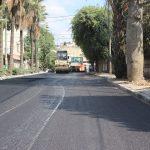 بلدية قلقيلية تواصل اعمال تعبيد شارع جلجولية