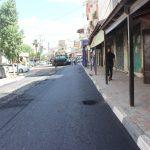 : استمرار اعمال التعبيد في شارع جلجولية.