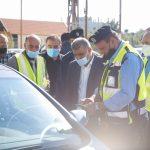 مشاركة رئيس بلدية قلقيلية بحملة توعية الفحص الشتوي للمركبات