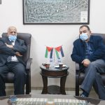 لقاء رئيس بلدية قلقيلية بوفد بلدية طولكرم