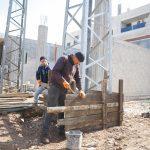 اعمال بناء قاعدة برج كهرباء