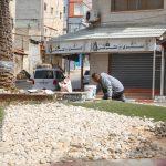 اعمال صيانة في دوار الشهداء (الشيماء)