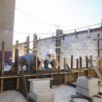 اعمال بناء ضمن مشروع تأهيل شارع الملعب الخماسي والمعبر