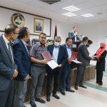 مشاركة رئيس بلدية قلقيلية في افتتاح معرض كلية التكنولوجيا والعلوم التطبيقية