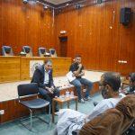 رئيس البلدية يلتقي سكان منطقة تنفيذ مشروع تأهيل وتعبيد طرق داخلية في منطقة كفر سابا